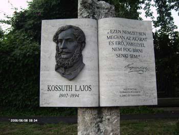 Kossuth Lajos emléktábla idézettel